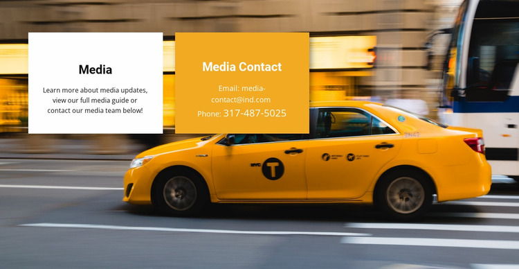 Media taxi Website Mockup