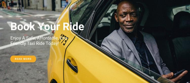 Book your ride Website Mockup