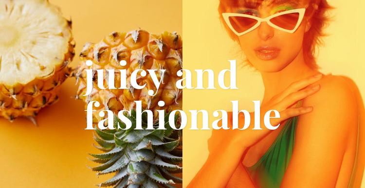 Juicy and fashionable Website Mockup