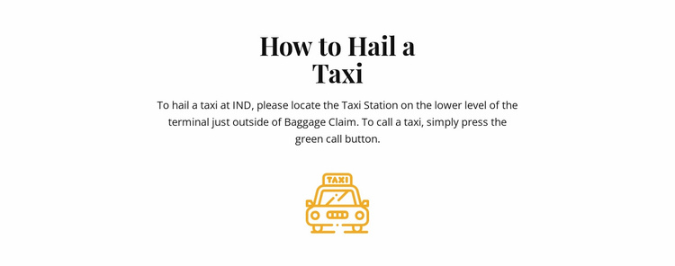 How to hall a taxi Website Template
