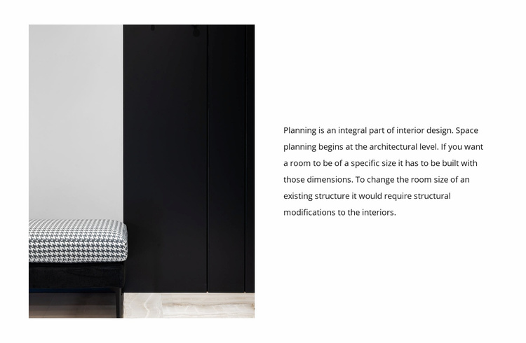 Black and white interior Website Template