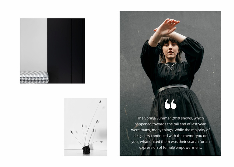 Fashionable solutions around Website Template