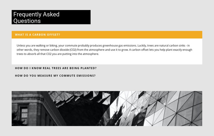 Most Popular Construction Questions HTML Template