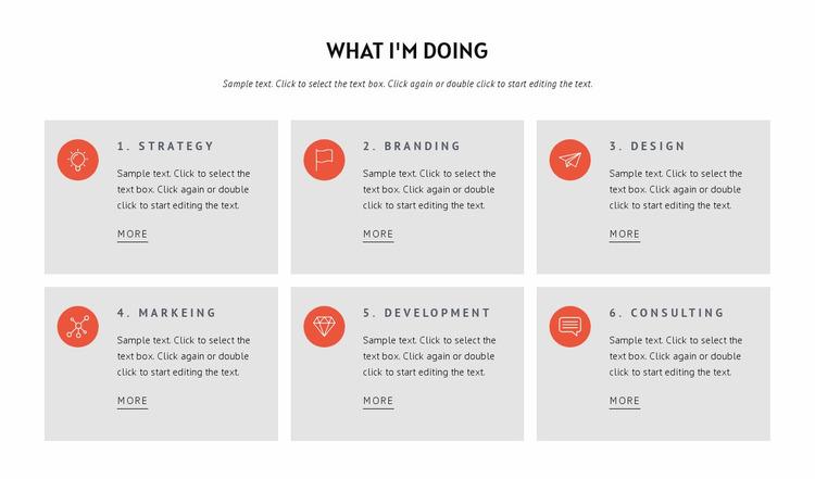 What we doing Website Mockup