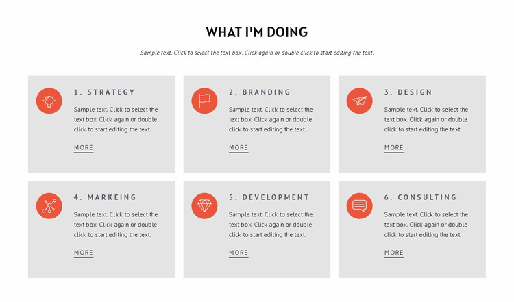 What we doing Landing Page
