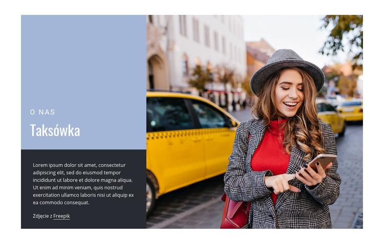 Taksówka w Nowym Jorku Szablon witryny sieci Web