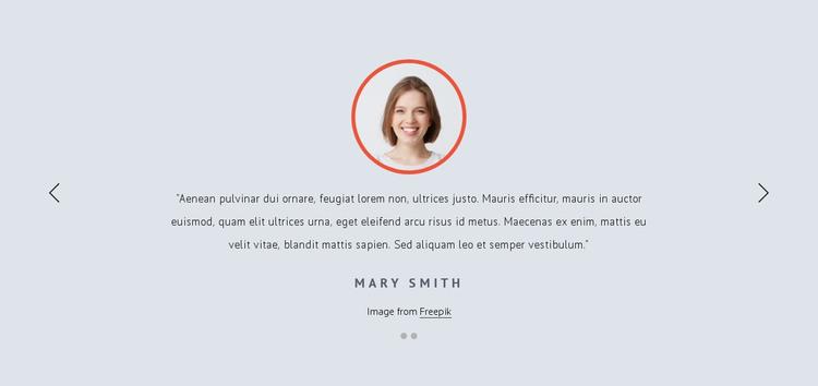 Customer feedbacks HTML Template