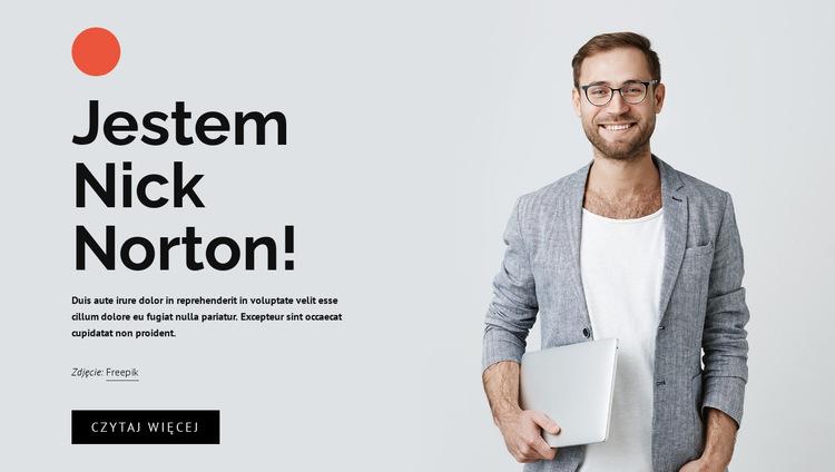 Niezależny twórca stron internetowych Szablon witryny sieci Web