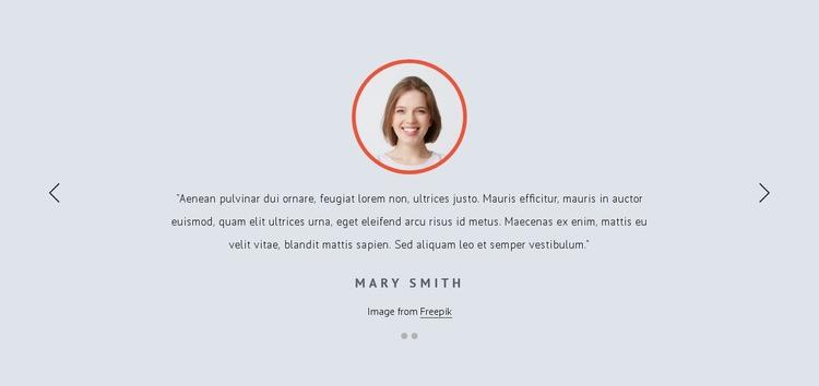 Customer feedbacks Web Page Designer