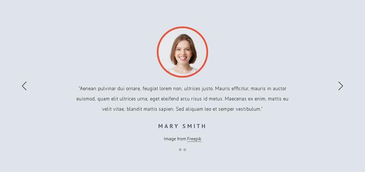 Customer feedbacks Website Design