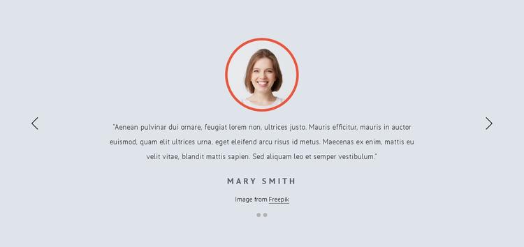 Customer feedbacks Website Template