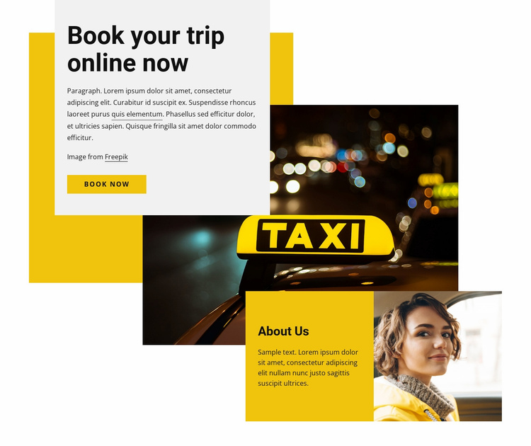 Book our trip online Website Template