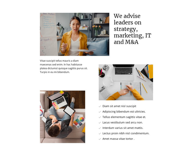 Strategy and marketing HTML Template