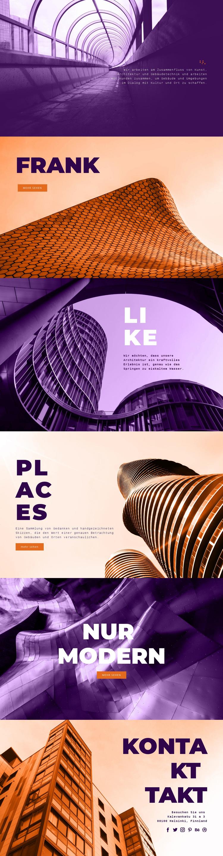 Innovative Baukunst Website-Vorlage