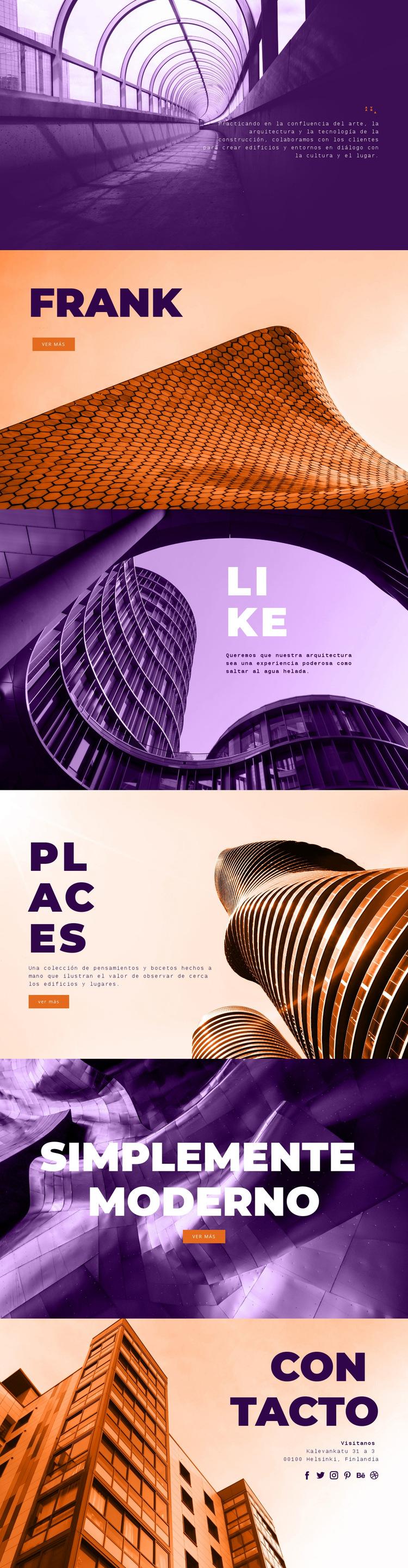 Arte de construcción innovador Plantilla de sitio web