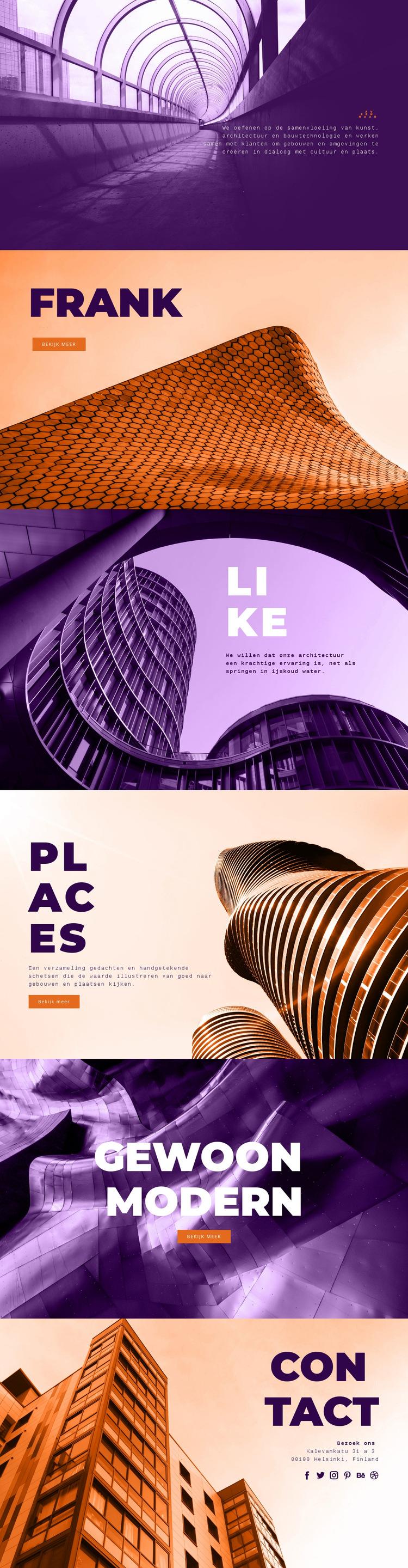 Innovatieve bouwkunst Website sjabloon