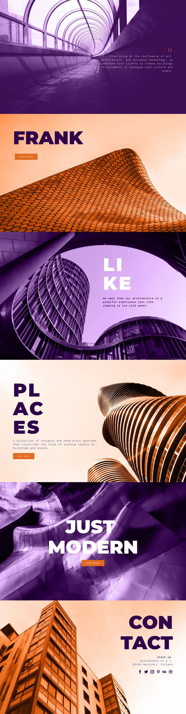 Innovative building art Website Mockup