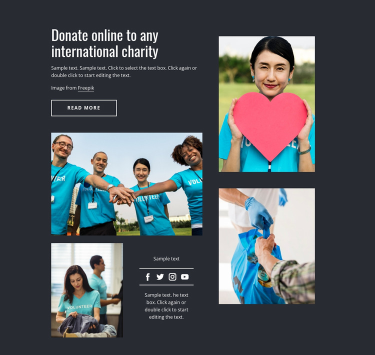 Donate online to any charity Website Mockup