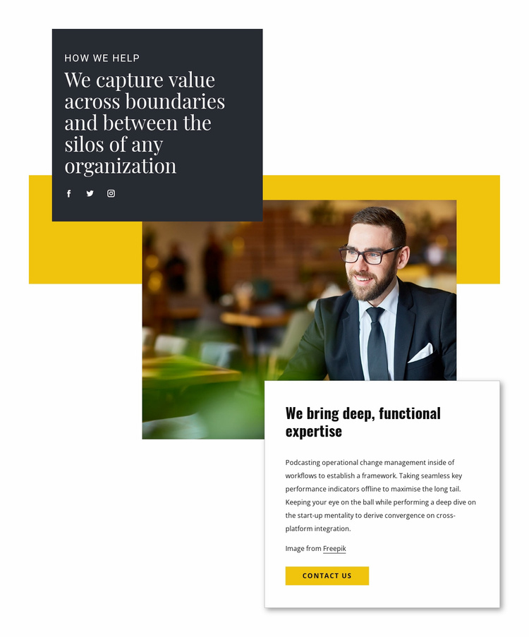 Help from business consultant Website Template