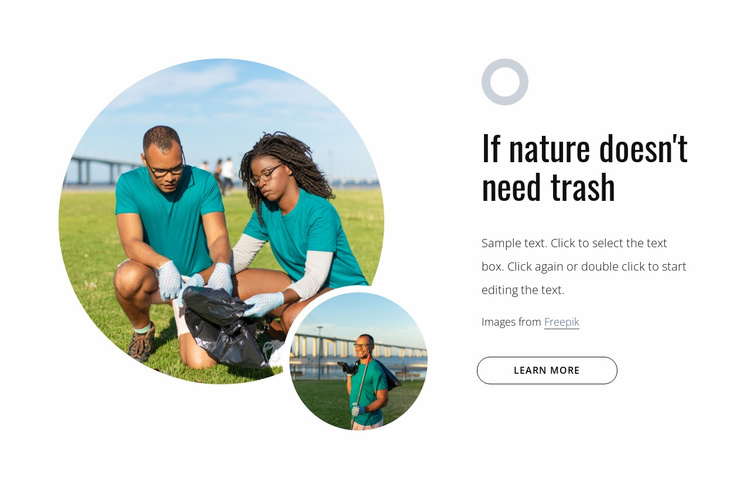 Volunteer to tackle waste Website Template