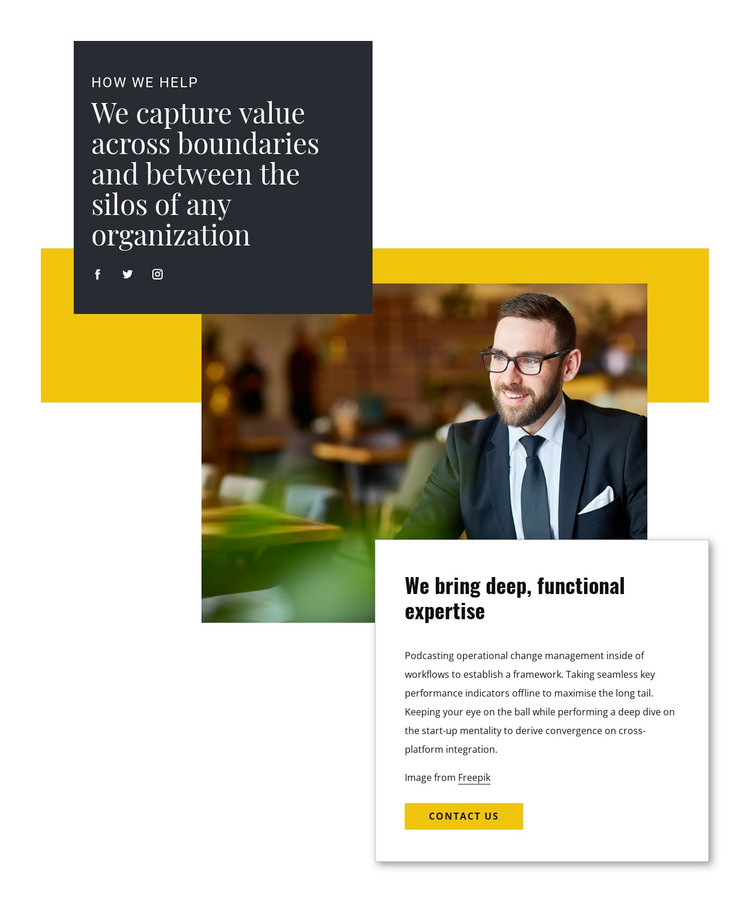 Help from business consultant WordPress Theme