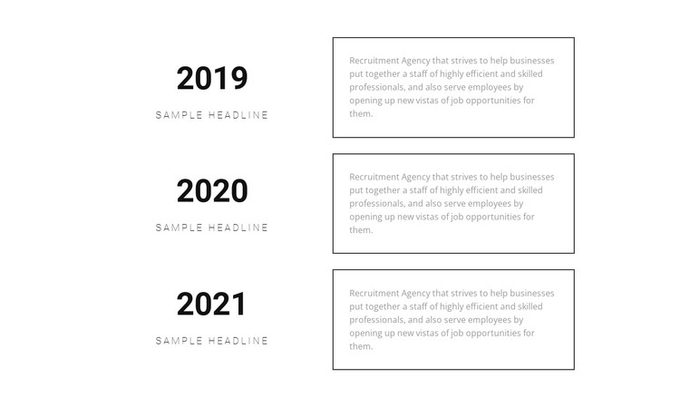 Success year after year CSS Template