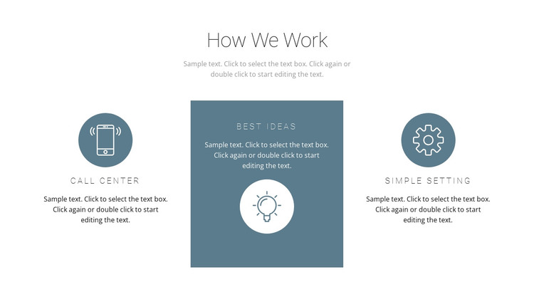 How the principle of work works HTML Template