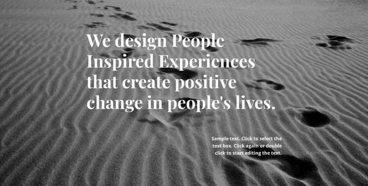Inspiration for Better Design HTML Template