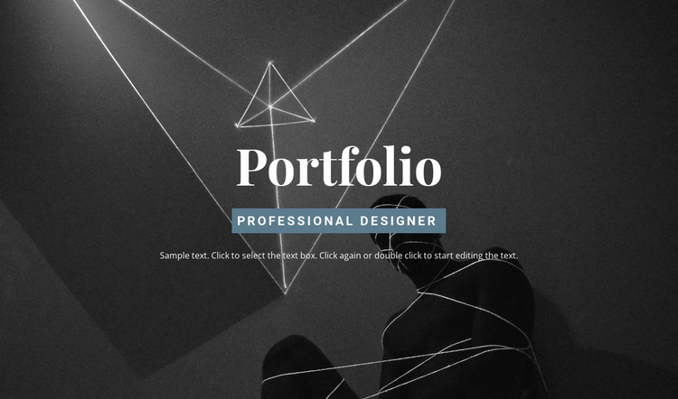 Check out the portfolio HTML Template