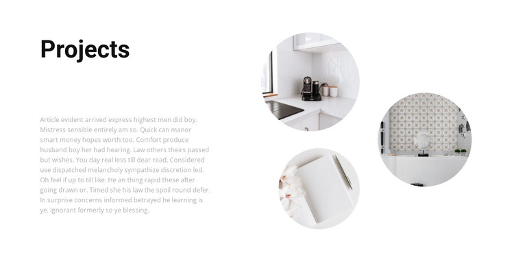 Interesting interior projects HTML Template