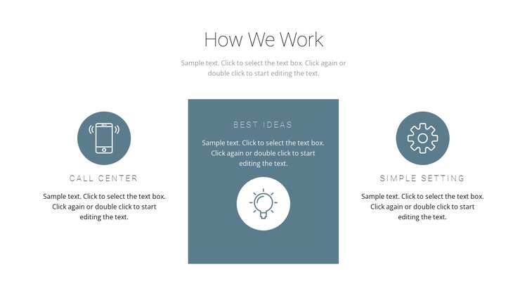 How the principle of work works HTML5 Template