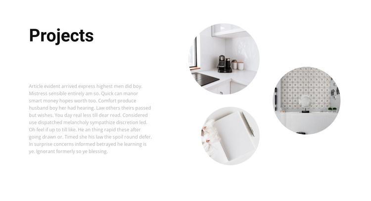 Interesting interior projects Joomla Template