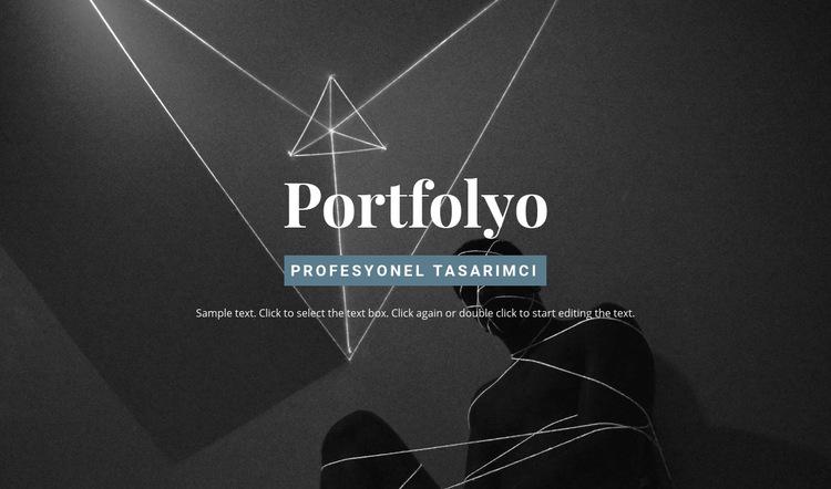 Portföyü inceleyin Web Sitesi Şablonu