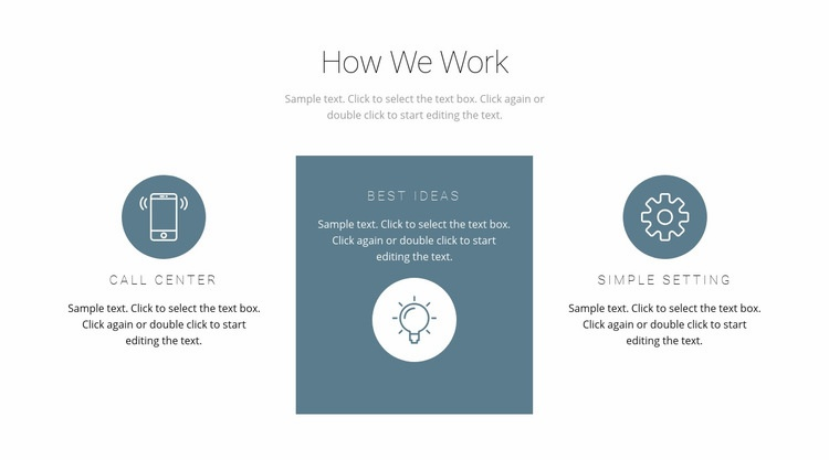 How the principle of work works Web Page Design