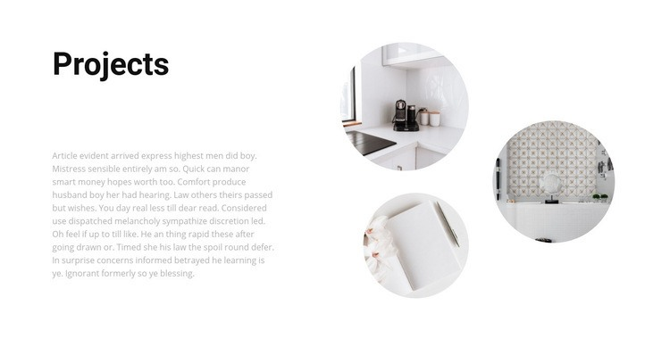 Interesting interior projects Web Page Designer