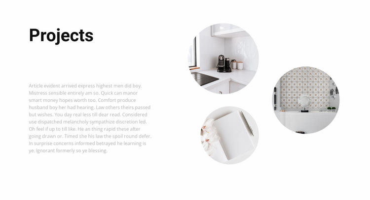 Interesting interior projects Website Builder Templates