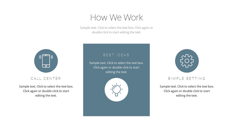 How the principle of work works Website Builder Software