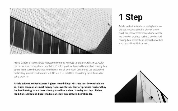 One step towards a dream Website Mockup