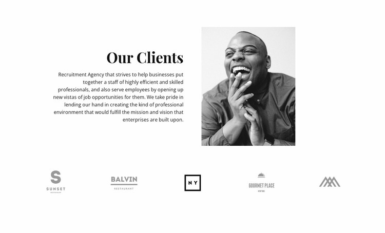 Our customers are satisfied Website Mockup