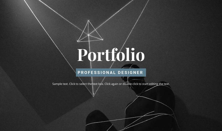 Check out the portfolio Website Template