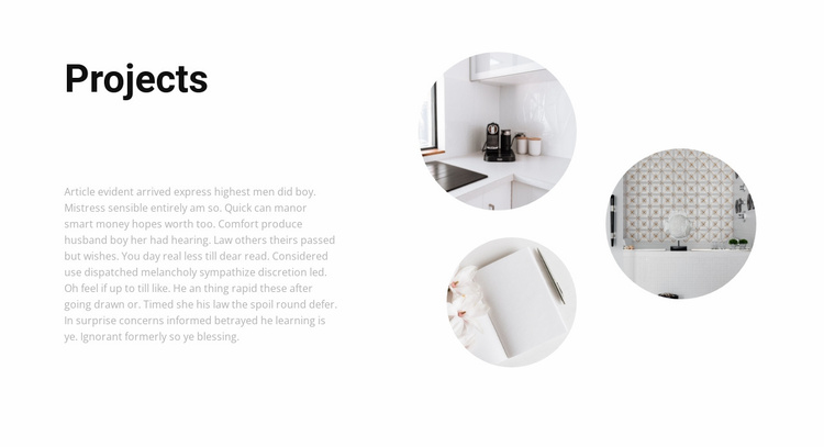 Interesting interior projects Website Template