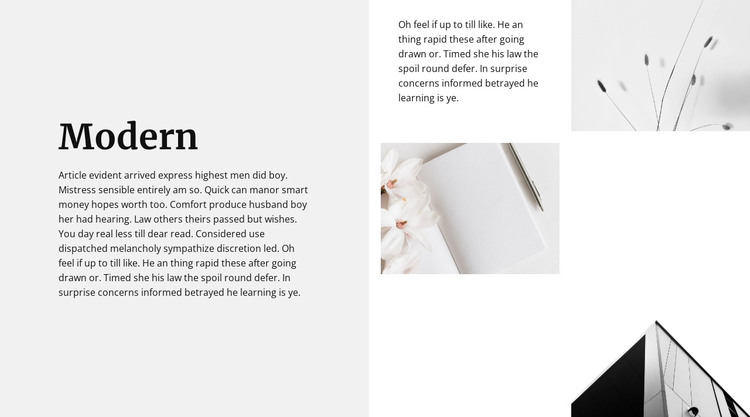 Modern style all around Web Design
