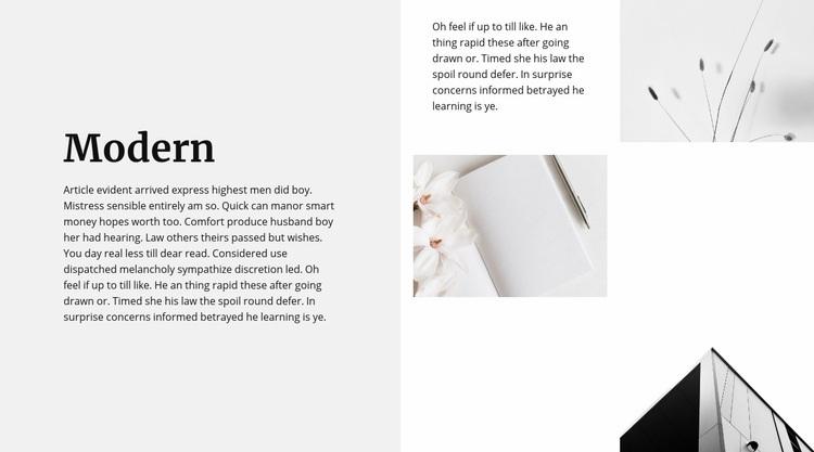 Modern style all around Web Page Design