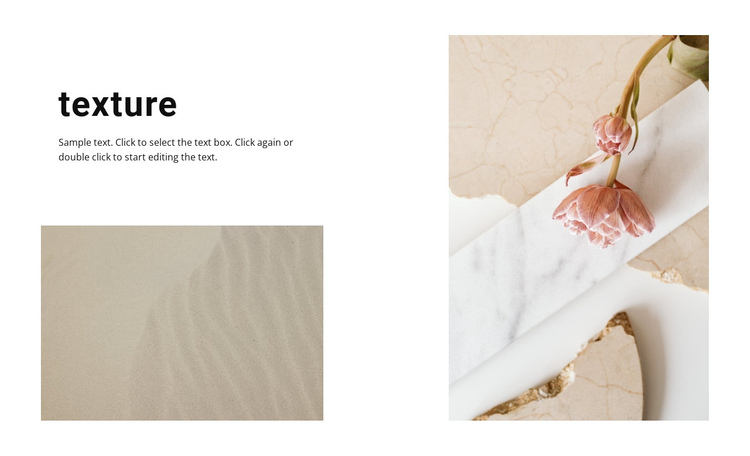 Natural textures Website Builder Software