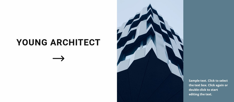 The first project of a young architect Website Mockup