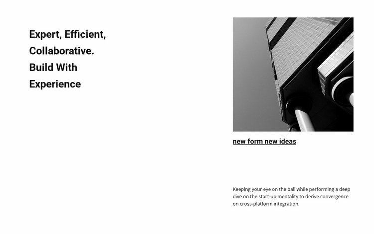 Ideas for new business projects Website Template