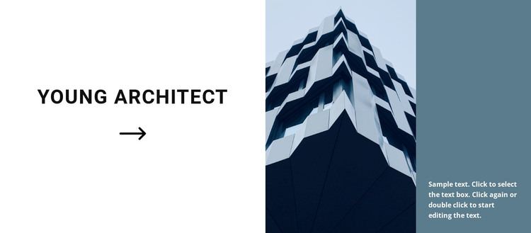 The first project of a young architect WordPress Theme