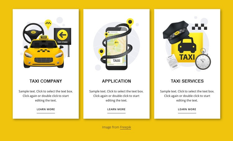 Taxi services Html Code Example