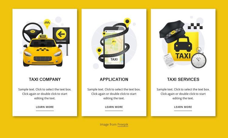 Taxi services Web Page Designer