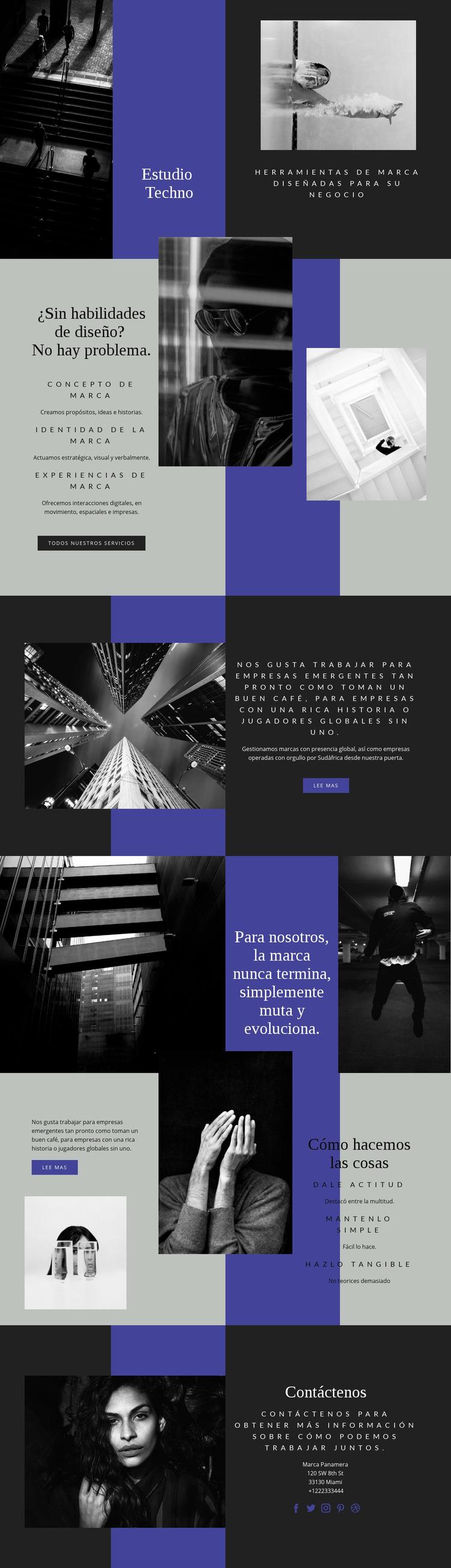 Habilidades tecnológicas en los negocios Plantilla de sitio web